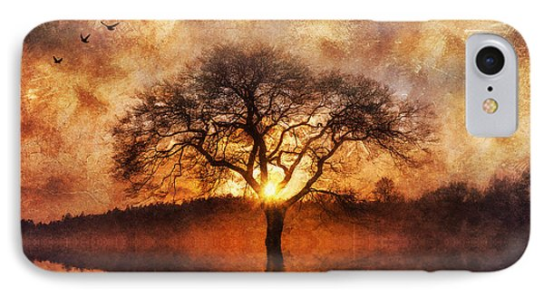 IPhone Case featuring the digital art Lone Tree by Ian Mitchell