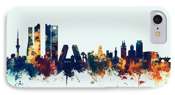 Madrid Spain Skyline IPhone Case