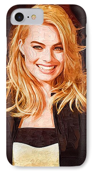 Margot Robbie Painting IPhone 7 Case