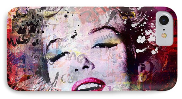 Marilyn Monroe IPhone Case by Mark Ashkenazi