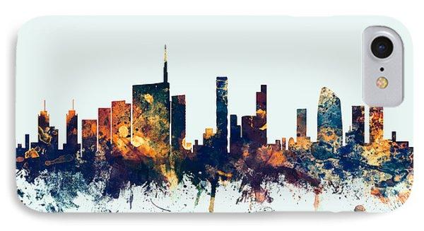 Milan Italy Skyline IPhone Case by Michael Tompsett