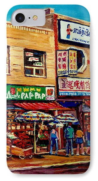 Montreal Paintings Phone Case by Carole Spandau