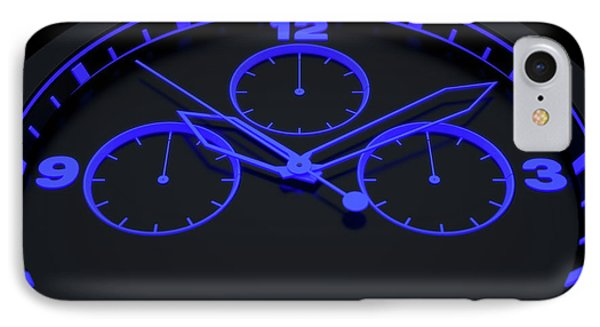 Neon Watch Face IPhone Case