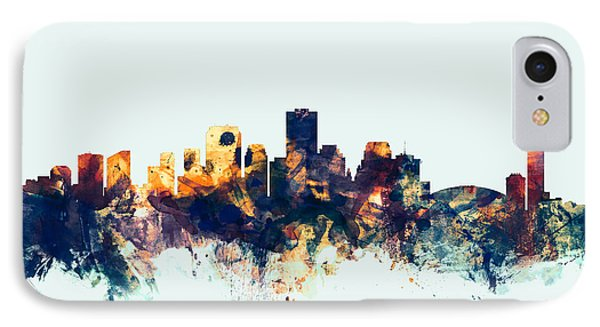New Orleans Louisiana Skyline IPhone Case by Michael Tompsett