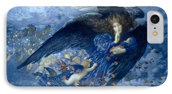 Night With Her Train Of Stars  IPhone Case by Edward Robert Hughes
