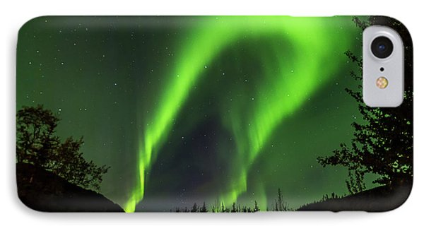 Northern Lights, Aurora Borealis At Kantishna Lodge In Denali National Park IPhone Case by Brenda Jacobs