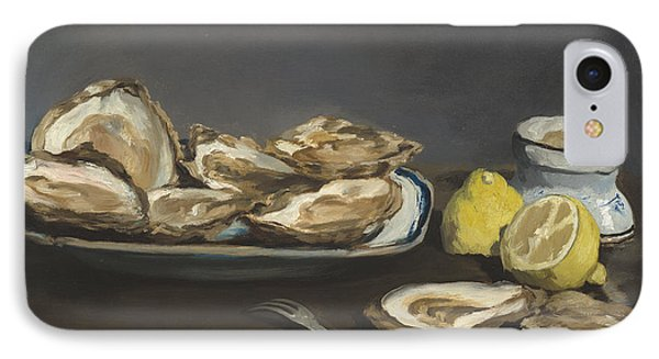 Oysters IPhone Case by Edouard Manet