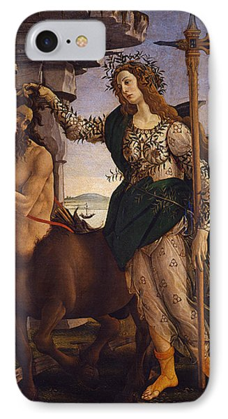 Pallas And The Centaur IPhone Case by Sandro Botticelli