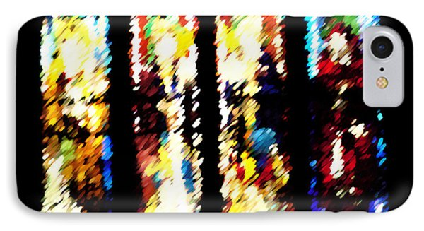 IPhone Case featuring the digital art 4 Panels Of Seville Abstract by Donna Corless