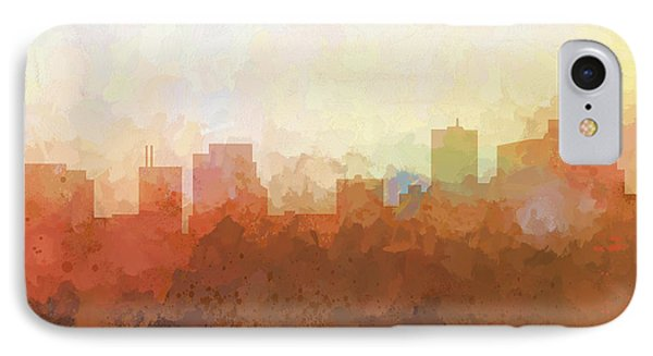 IPhone Case featuring the digital art Parsippany New Jersey Skyline by Marlene Watson