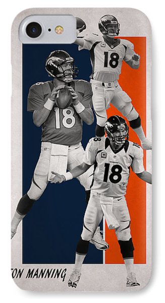 Peyton Manning Denver Broncos IPhone Case by Joe Hamilton