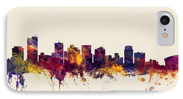 Phoenix Arizona Skyline IPhone Case by Michael Tompsett