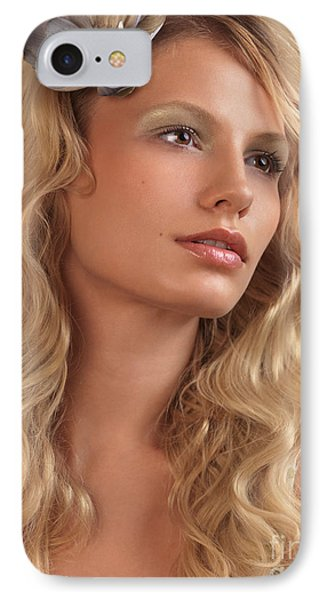 Portrait Of A Beautiful Young Woman Phone Case by Oleksiy Maksymenko