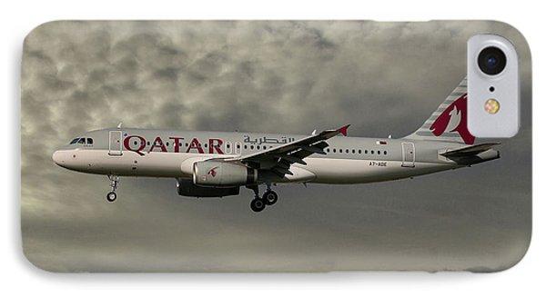 Jet iPhone 7 Case - Qatar Airways Airbus A320-232 by Smart Aviation