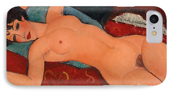 Reclining Nude IPhone Case by Amedeo Modigliani