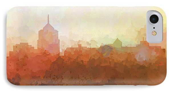 IPhone Case featuring the digital art Roanoke Virginia Skyline by Marlene Watson