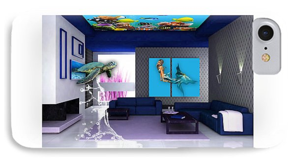 Rooftop Saltwater Fish Tank Art IPhone 7 Case