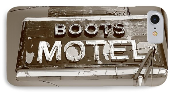 Route 66 - Boots Motel Phone Case by Frank Romeo