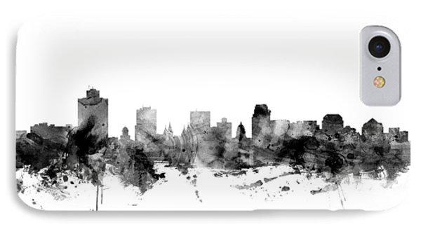 Salt Lake City Skyline IPhone Case by Michael Tompsett