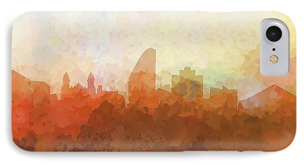 IPhone Case featuring the digital art San Jose California Skyline by Marlene Watson