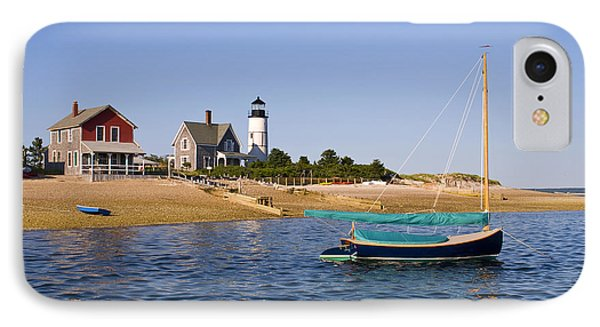 Sandy Neck Lighthouse IPhone Case by Charles Harden