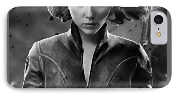 Scarlett Johansson Black Widow Collection IPhone Case by Marvin Blaine