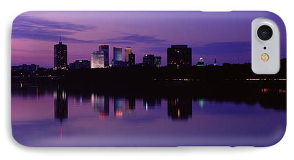 Silhouette Of Buildings IPhone Case by Panoramic Images