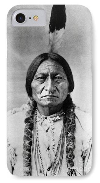 Bull iPhone 7 Case - Sitting Bull 1834-1890. To License For Professional Use Visit Granger.com by Granger
