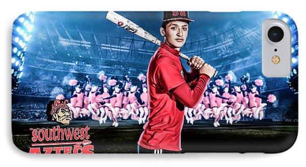 IPhone Case featuring the digital art Southwest Aztecs Baseball Organization by Nicholas Grunas