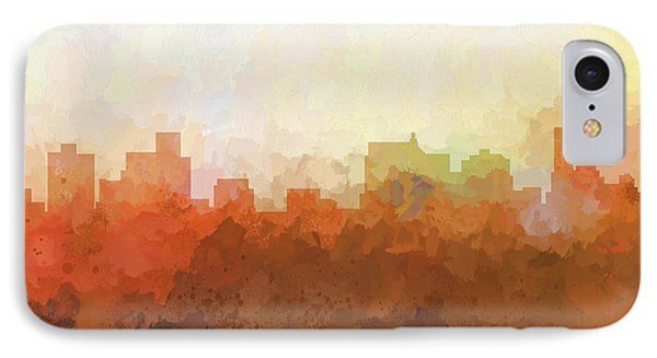 IPhone Case featuring the digital art Springfield Illinois Skyline by Marlene Watson