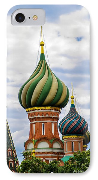 St Basils - Red Square - Moscow Russia IPhone Case by Jon Berghoff
