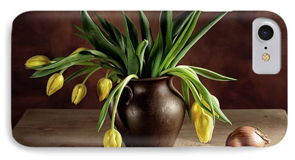 Potato iPhone 7 Case - Still Life With Tulips by Nailia Schwarz