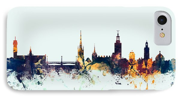 Stockholm Sweden Skyline IPhone Case