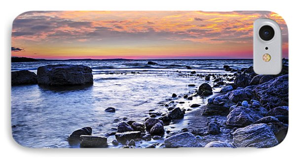 Sunset Over Water IPhone Case by Elena Elisseeva