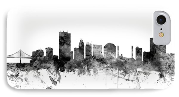 Toledo Ohio Skyline IPhone Case by Michael Tompsett