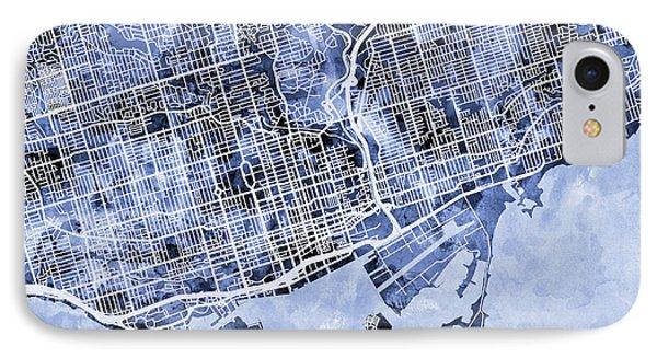 Toronto Street Map IPhone Case by Michael Tompsett