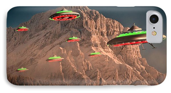 Ufo Invasion Force By Raphael Terra IPhone Case