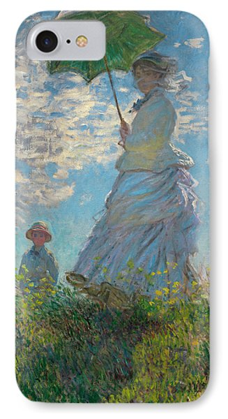 Woman With A Parasol - Madame Monet And Her Son IPhone Case by Claude Monet