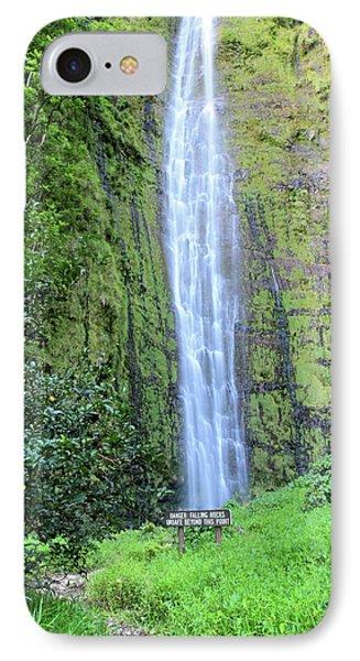 400 Foot Waimoku Falls Maui Phone Case by Pierre Leclerc Photography