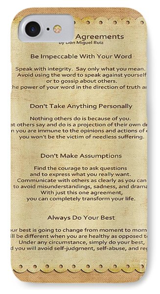 41- The Four Agreements Phone Case by Joseph Keane
