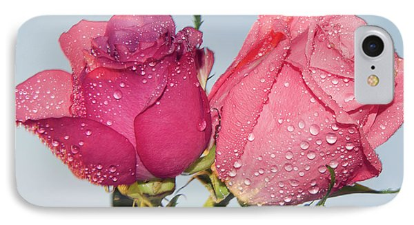 Two Roses IPhone Case by Elvira Ladocki