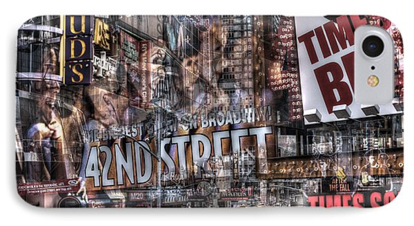IPhone 7 Case featuring the photograph 42nd Street Times Square 2 by Dave Beckerman