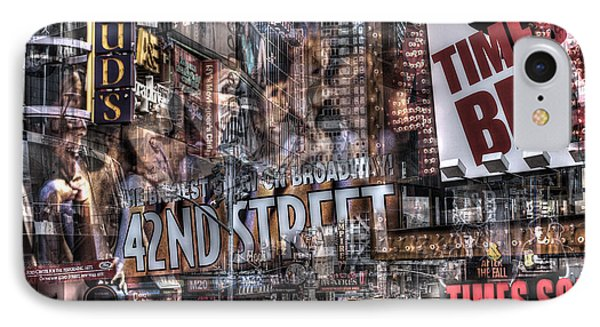 42nd Street Times Square 2 IPhone Case by Dave Beckerman
