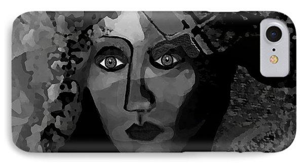 IPhone Case featuring the digital art 455 - Dark Dreamer by Irmgard Schoendorf Welch