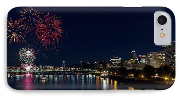 4th Of July Fireworks At Portland Waterfront 2016 Phone Case by David Gn