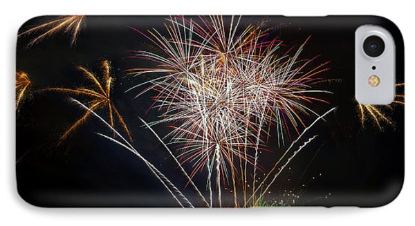 4th Of July Fireworks Display From The Barge Portland Oregon Phone Case by David Gn