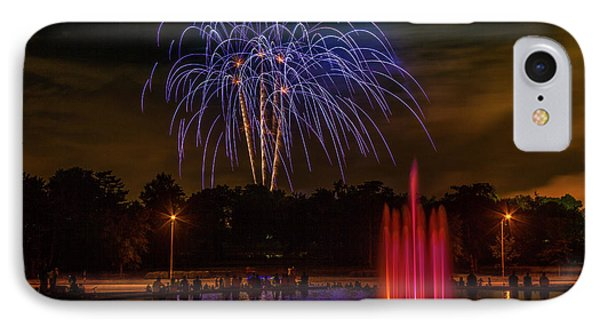 4th Of July Fireworks In Forest Park IPhone Case