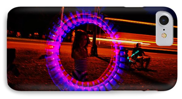 4th Of July - Glow Sticks On A String IPhone Case by George Bostian