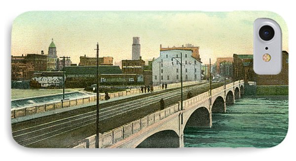 4th Street Bridge Waterloo Iowa IPhone Case by Greg Joens