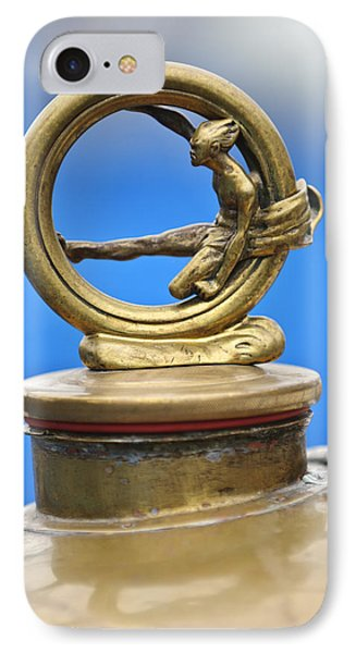 1912 Gobron-brillie 12 Cv Skiff Hood Ornament IPhone Case by Jill Reger